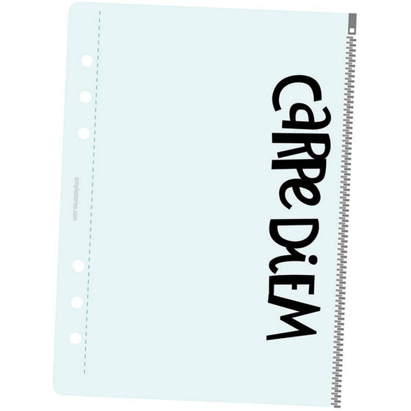 Scrapbooking  Carpe Diem Planner Essentials Zippered Plastic Storage Pouch A5 Paper Collections 12x12
