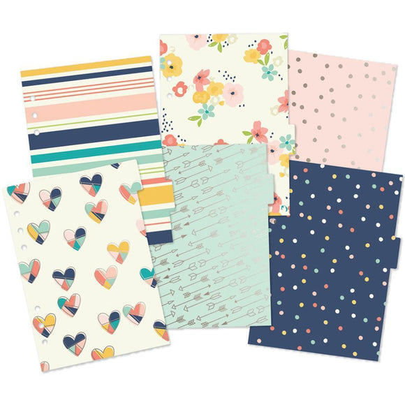 Scrapbooking  Carpe Diem POSH A5 Dividers with Foil Accents 6pk Paper Collections 12x12