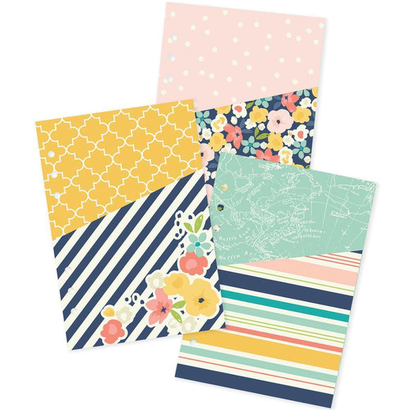 Scrapbooking  Carpe Diem POSH A5 Double Sided Pocket Inserts Paper Collections 12x12