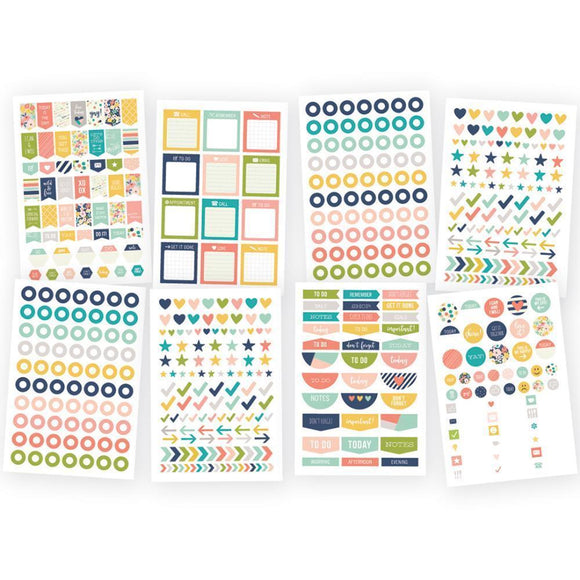 Scrapbooking  Carpe Diem POSH Planner Basic Stickers Paper Collections 12x12