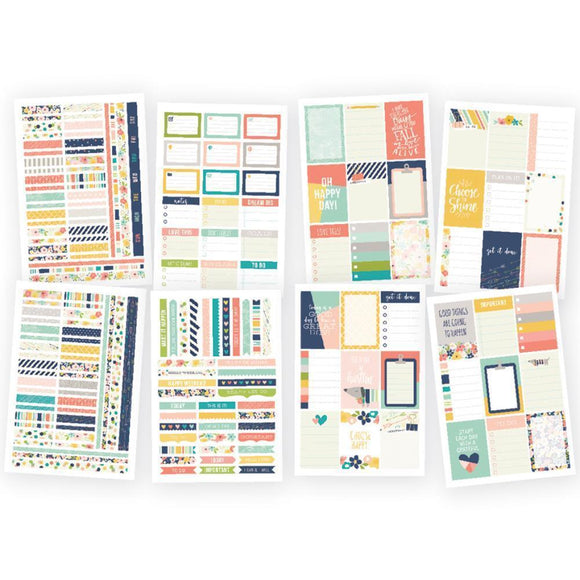 Scrapbooking  Carpe Diem POSH Weekly Stickers Paper Collections 12x12