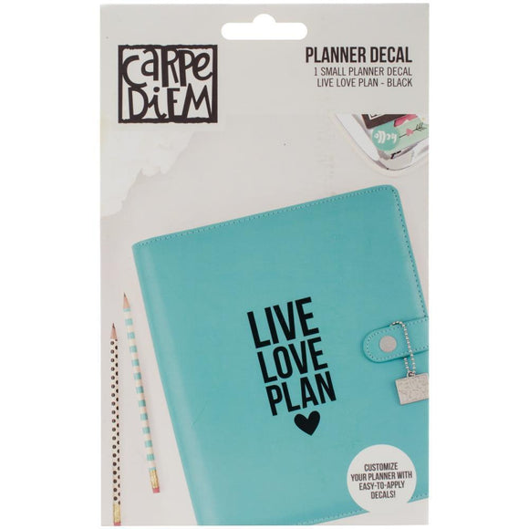 Scrapbooking  Carpe Diem Small Planner Decals Live, Love, Plan Paper Collections 12x12
