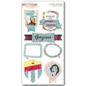 Scrapbooking  Cashmere Dame Layered Stickers Paper Collections 12x12