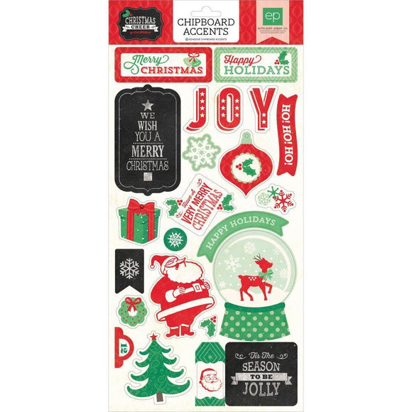 Scrapbooking  Christmas Cheer Chipboard Accents Paper Collections 12x12