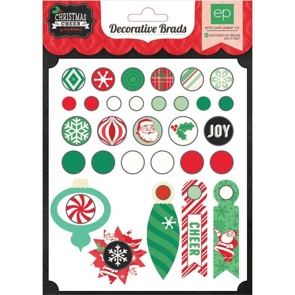 Scrapbooking  Christmas Cheer Decorative Brads Paper Collections 12x12