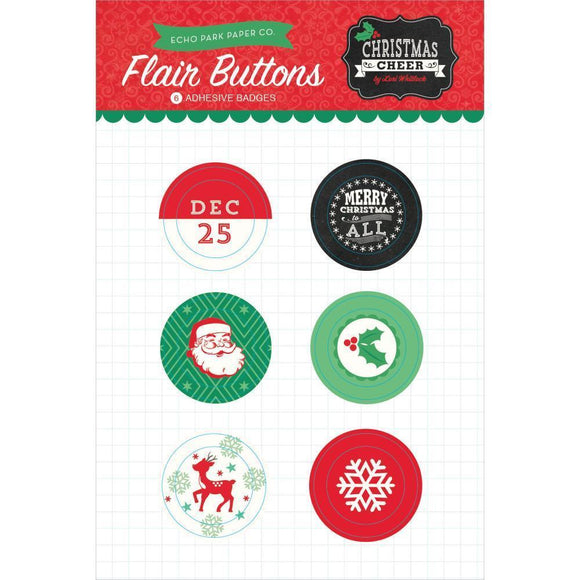 Scrapbooking  Christmas Cheer Flair Buttons Paper Collections 12x12