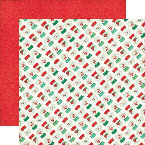 Scrapbooking  Christmas Cheer Snow Globe Paper 12x12 Paper Collections 12x12
