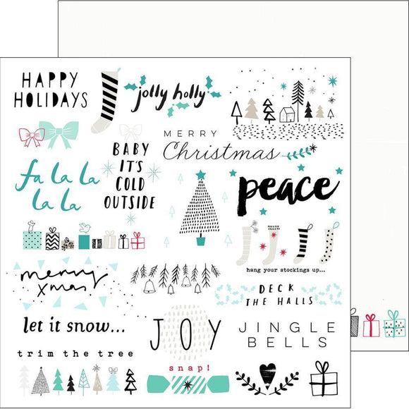 Scrapbooking  Christmas Wishes Jolly Holly Paper 12x12 Paper Collections 12x12