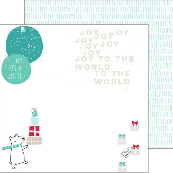 Scrapbooking  Christmas Wishes Joy to the World Paper 12x12 Paper Collections 12x12