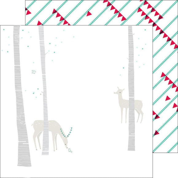 Scrapbooking  Christmas Wishes Oh Deer Paper 12x12 Paper Collections 12x12