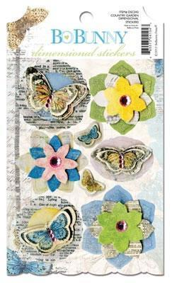 Scrapbooking  Country Garden Dimensional Stickers Paper Collections 12x12