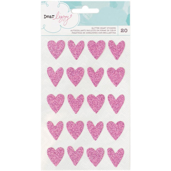 Scrapbooking  Dear Lizzy Happy Place Glitter Hearts Paper Collections 12x12