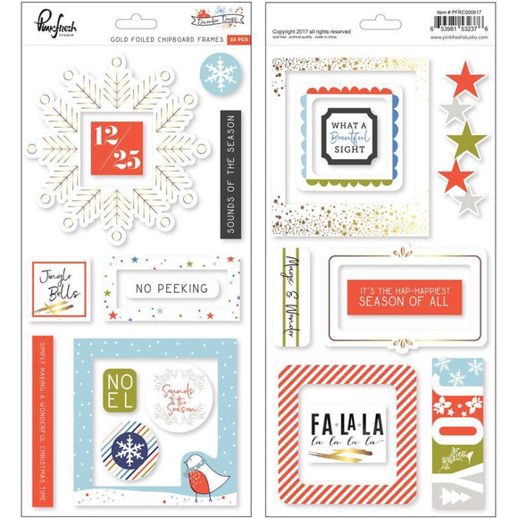 Scrapbooking  December Days Chipboard Stickers 5.5