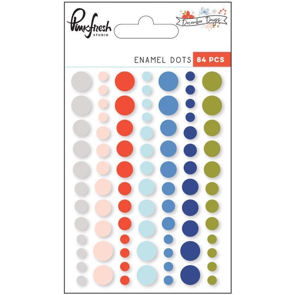Scrapbooking  December Days Enamel Stickers 84/Pkg Dots Paper Collections 12x12