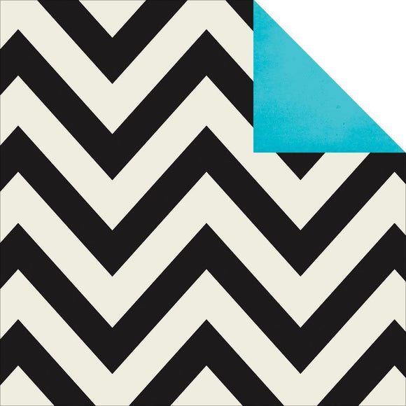 Scrapbooking  DIY Boutique Chevron and Teal Paper 12x12 Paper Collections 12x12