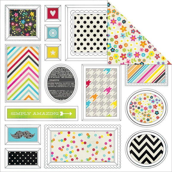 Scrapbooking  DIY Boutique Freeze Frame Paper 12x12 Paper Collections 12x12