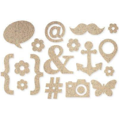 Scrapbooking  DIY Burlap Icons Paper Collections 12x12