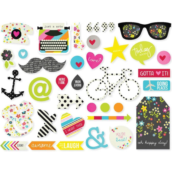 Scrapbooking  DIY Chipboard Stickers Paper Collections 12x12