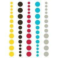 Scrapbooking  DIY Enamel Dots Teal Red Yellow Paper Collections 12x12