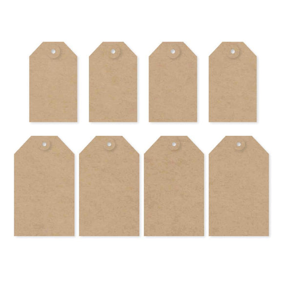 Scrapbooking  DIY Foundations Kraft Tags 8/Pkg Paper Collections 12x12