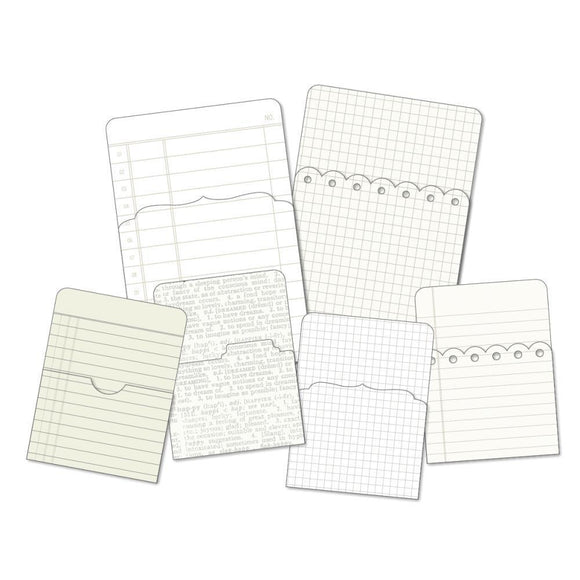 Scrapbooking  DIY Foundations Office Pockets 6/Pkg Paper Collections 12x12