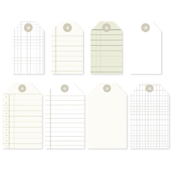 Scrapbooking  DIY Foundations Office Tags 8/Pkg Paper Collections 12x12
