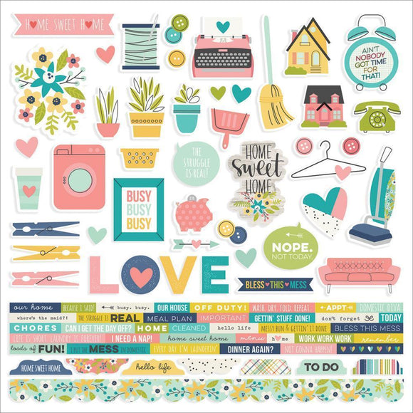 Scrapbooking  Domestic Bliss Cardstock Stickers 12