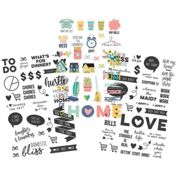 Scrapbooking  Domestic Bliss Clear Stickers 4
