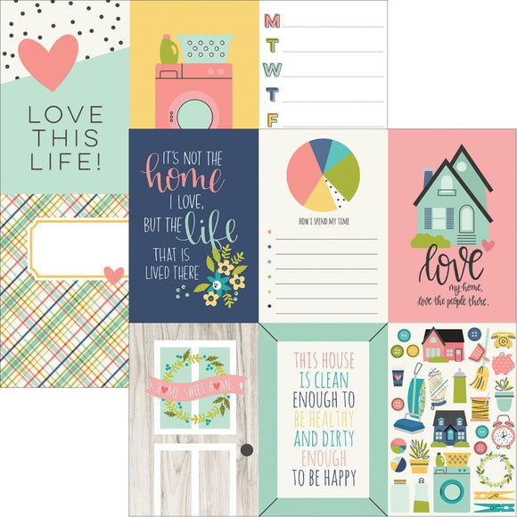Scrapbooking  Domestic Bliss Double-Sided Cardstock 12