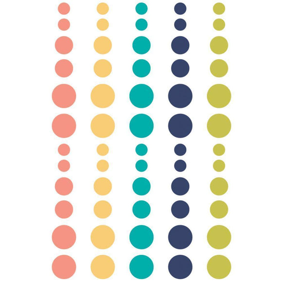 Scrapbooking  Domestic Bliss Enamel Dots 60pk Paper Collections 12x12