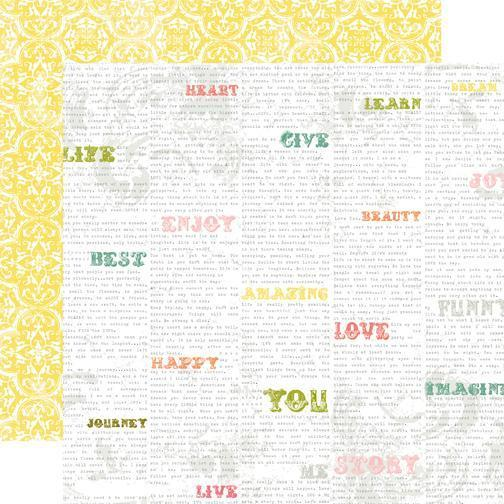 Scrapbooking  Echo Park Victoria Gardens Cheerful Words Paper Collections 12x12