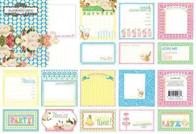 Scrapbooking  Echo Park Victoria Gardens Journalling Cards Paper Collections 12x12