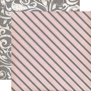 Scrapbooking  Echo Park Yours Truly Awning Stripe Paper Collections 12x12