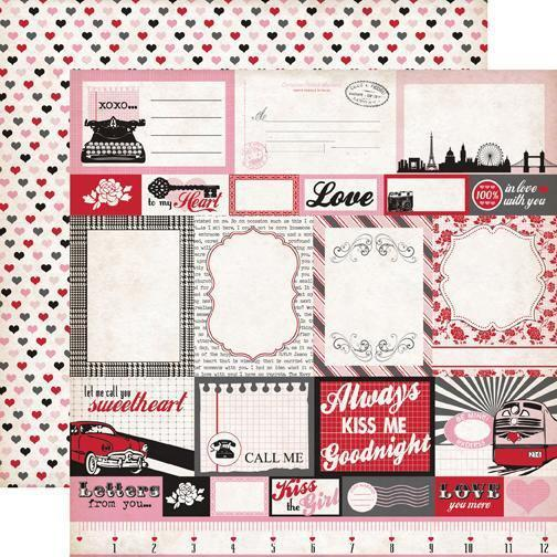 Scrapbooking  Echo Park Yours Truly Journalling Cards Paper Collections 12x12