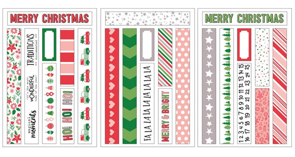 Scrapbooking  Elles Studio - Tis the Season Washi Tape Stickers Paper Collections 12x12