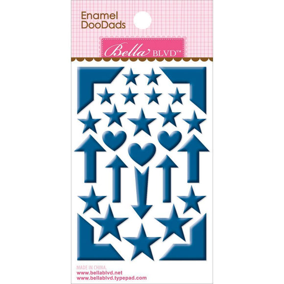 Scrapbooking  Enamel Doodads Blueberry Paper Collections 12x12