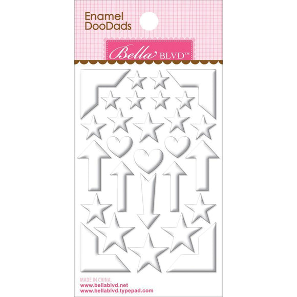 Scrapbooking  Enamel Doodads Milk White Paper Collections 12x12