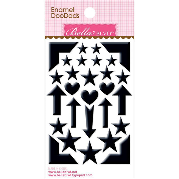 Scrapbooking  Enamel Doodads Oreo Black Paper Collections 12x12