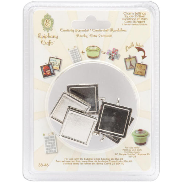 Scrapbooking  Epiphany Crafts Metal Charm Settings with Square Paper Collections 12x12