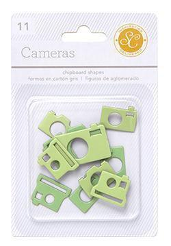 Scrapbooking  Essentials Chipboard Cameras Greens Paper Collections 12x12