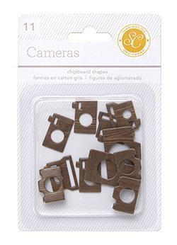 Scrapbooking  Essentials Chipboard Cameras Woodgrain Paper Collections 12x12
