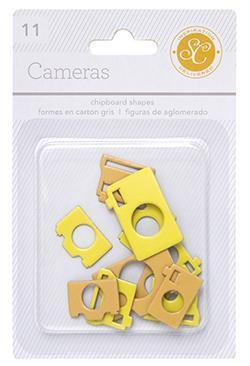 Scrapbooking  Essentials Chipboard Cameras Yellow and Orange Paper Collections 12x12