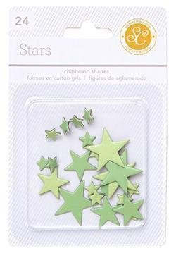 Scrapbooking  Essentials Chipboard Stars Greens Paper Collections 12x12