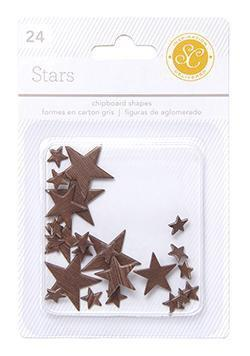 Scrapbooking  Essentials Chipboard Stars Woodgrain Paper Collections 12x12