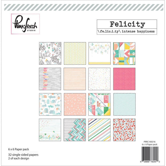 Scrapbooking  Felicity 6x6 Paper Pad 32pk Paper Collections 12x12