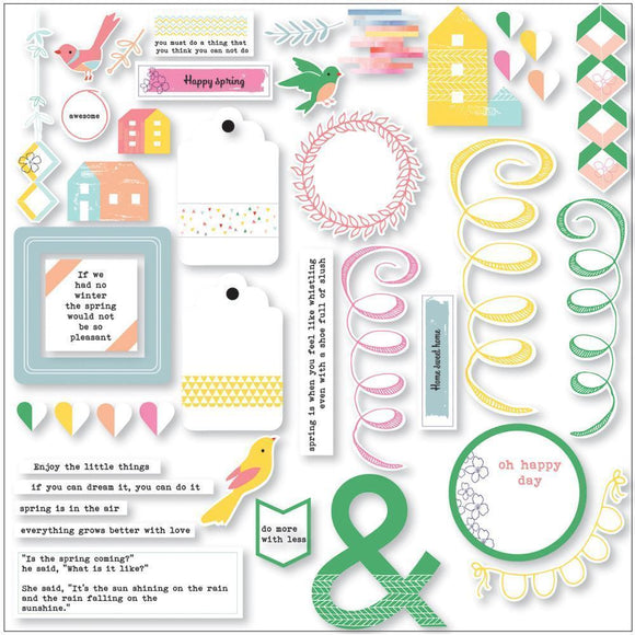 Scrapbooking  Felicity Cardstock Die Cuts 40pc Paper Collections 12x12