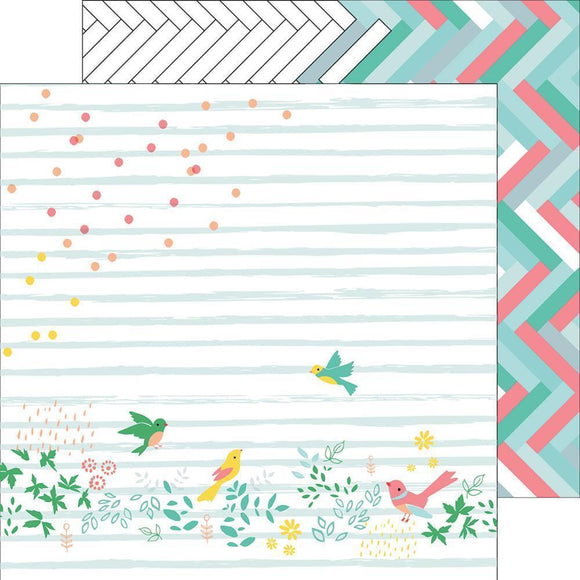 Scrapbooking  Felicity - Confetti Garden Paper 12x12 Paper Collections 12x12