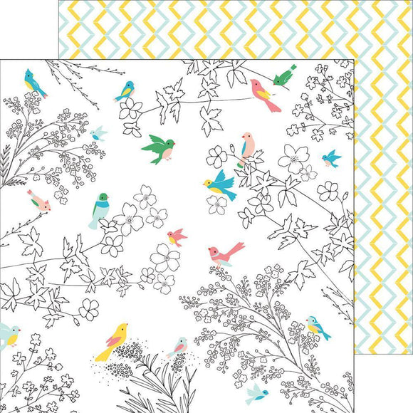 Scrapbooking  Felicity - Florals And Birds Paper 12x12 Paper Collections 12x12