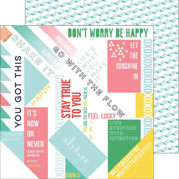 Scrapbooking  Felicity - Happy Words Paper 12x12 Paper Collections 12x12