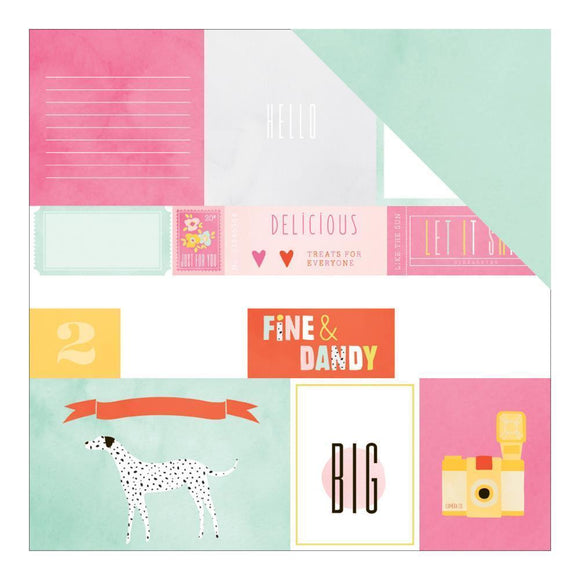 Scrapbooking  Fine and Dandy  - Fine and Dandy Specialty Gold Foil Paper 12x12 Paper Collections 12x12